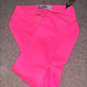 Hollister Neon pink jeans